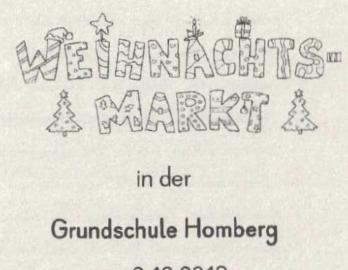 Einladung Zum Weihnachtsmarkt Grundschule Homberg
